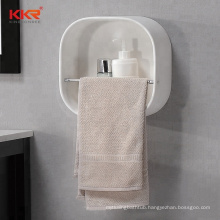 Solid Surface Material Wall Mounted Bathroom Corner Shelf for Hotel