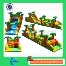 Circuito de obstáculos inflável inflável do curso da obscuridade do curso inflável da obscuridade da venda