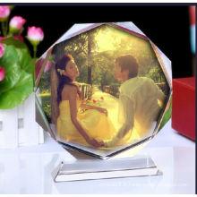 Beau cadre photo en cristal pour les cadeaux de mariage et les souvenirs