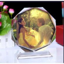 Moldura de cristal bonita para presentes de casamento e lembranças