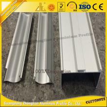 Perfil de extrusão de alumínio 6063 T5 para perfil de alumínio limpo