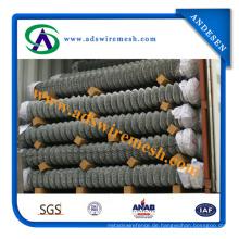 Professionelle Produzieren PVC Beschichtung Chain Link Zaun für Stadion