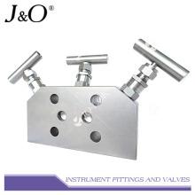 Múltiple de válvula de instrumento de acero inoxidable 3