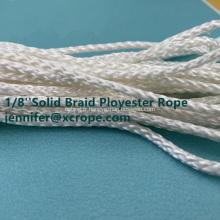 Corde en polyester tressé solide blanc robuste