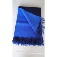 Châle pashmina bleu double couche de haute qualité