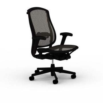 Chaise ergonomique en filet avec accoudoir