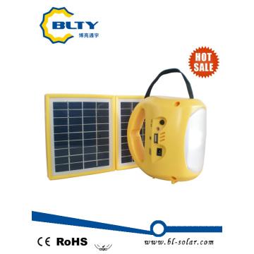 Lanterna solar do diodo emissor de luz da venda quente com rádio