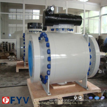 Forged Steel A105 Flange Ball Valve with Gear