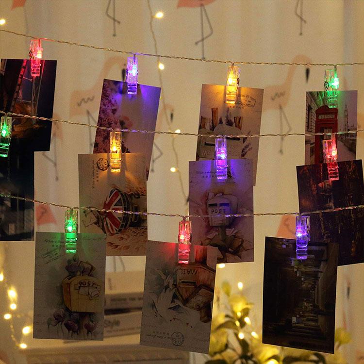 metal clip string lights