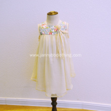 2018 new design baby fancy flower dresses
