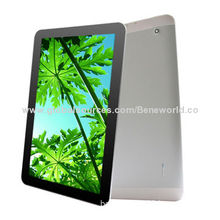 Metal Housing 10.1-inch IPS MTK8382 Quad-core 3G Tablet PCs with 1,280 x 800 Pixels Resolution
