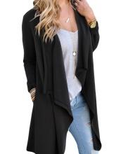 Female Fashion Spring Autumn Long Sleeve Cardigan Dust Coat