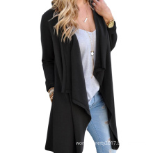 Female Fashion Spring Autumn Long Sleeve Cardigan Dust Coat