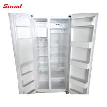 Refrigerador de lado a lado do aparelho eletrodoméstico com o fabricante de gelo e o distribuidor da água para a venda