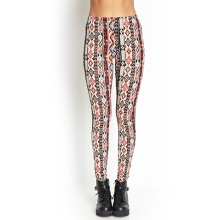 Southwestern-Inspired Knit Leggings with Elasticized Waist