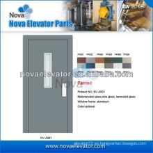 Puerta semiautomática del elevador del pelo con la superficie del acero inoxidable, 1000mm * 2000m m