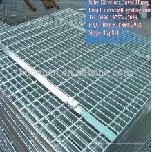 Plataforma de pasarela de rejas de acero galvanizado