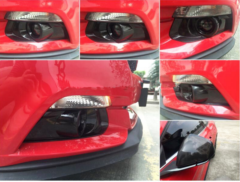 customized carbon fiber fog light cover