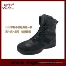 Botas de estilo militar táticas policial botas sem lado Zip