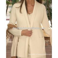 Горячие продажи женщин чистый кашемир кардиган свитер ткань