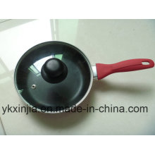Kitchenware Aluminum Non-Stick Coating Sauce Pot with Silicone Handle Cookware