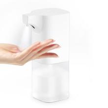 Distribuidor de sabão com sensor automático de 350 ML com suporte sem toque para álcool e máquina lavadora de mãos