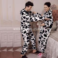Couple Wear Flannel Fleece Romper With Hood