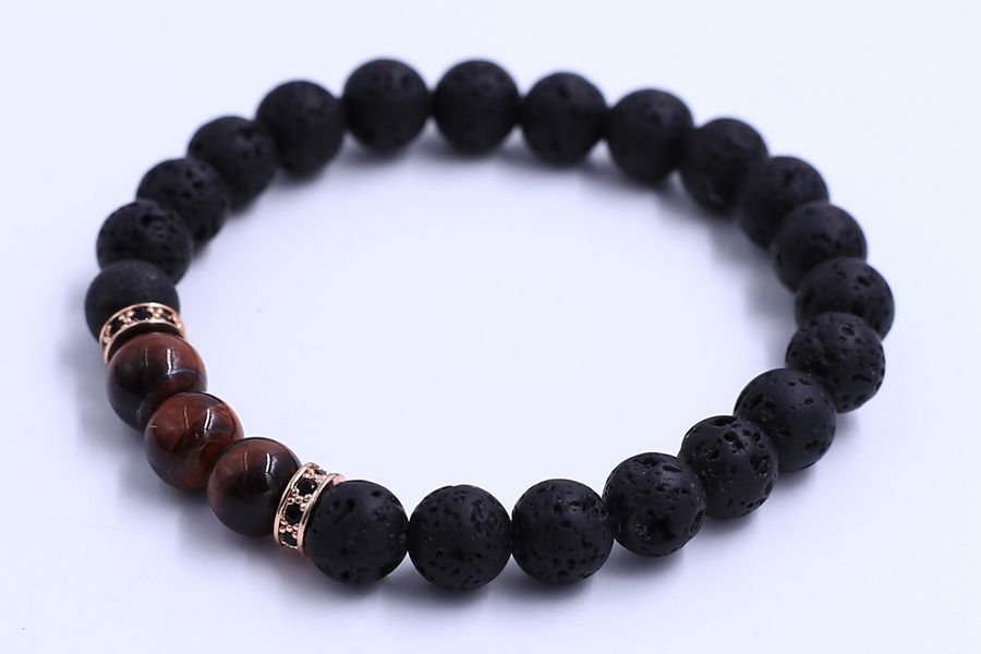 Red Tiger Eye Beads Bracelet