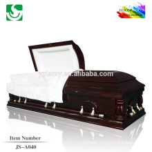 Classical American style solid wood cremation caskets