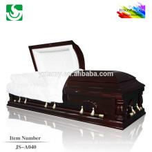 Caixões de cremação de madeira sólida de estilo clássico americano