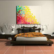 Arte abstracto de la pintura de pared para la decoración casera