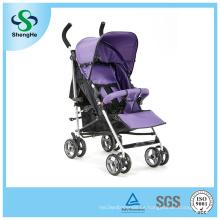 Cochecito de bebé plegable con 360 ruedas giratorias reposapiés ajustable (SH-B13)