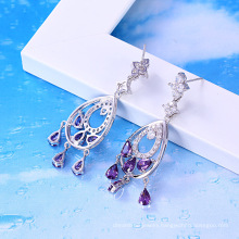 22894 xuping  Rhodium color Jewelry unique design Drop  earrings with large Crystals from Swarovski