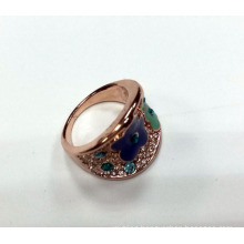 Fashion Jewelry Ring with Flower Pattern with Enamel