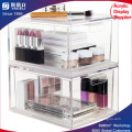 2-Pack Premium Quality Stackable Acrylic Cosmetic Storage and Makeup Palette Organizer Drawers