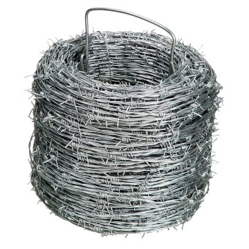 Galvanized Wire Barbed Wire Roll Packing dengan Handles