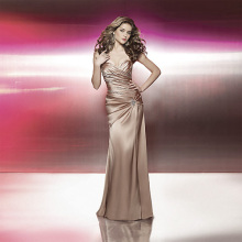 Elegant Dramatic Mermaid Sweetheart neckline Strapless Chapel Train Satin Ruffled Beading Prom Dress
