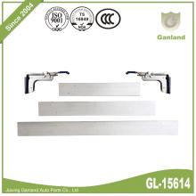 Tablón de aluminio de la cerradura del apuntalamiento del cargo con las abrazaderas del OEM