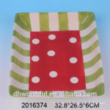 Multi-bunte glatte Geschirr Geschenkartikel benutzerdefinierte Dolomit Platte, Keramikplatte