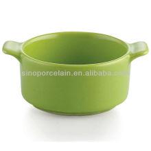 Grüne keramische Auflaufform für BS12083D