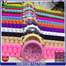 Yxl-344 2016 Hot Sale Elegance Women Watch Custom Printed Logo Silicone Watch Girls Candy Color Quartz Watches