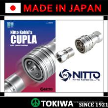 CUPLA Quick Connect Acoplamentos para várias pressões. Fabricado por Nitto Kohki. Feito no Japão (acoplamento rápido em aço inoxidável)