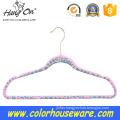 Leopard velvet clothes hanger/flocked hanger