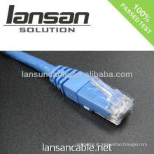 Ul alistou o cabo 6 cable cat6 rj45 remendo o cabo 568b / 568a OEM disponível