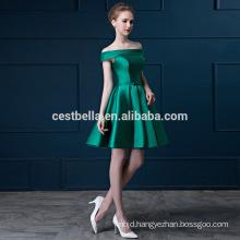 Off-Shoulder women's formal evening casual dress Short Green Red Cocktail Dress Short