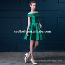 Off-плечи формальные женщины вечернее свободного покроя платье короткий зеленый красный коктейльное платье короткое