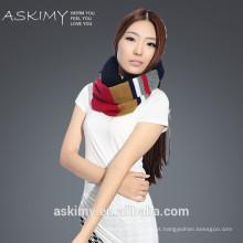 2015 moda senhora 100% lã em torno do pescoço lenço