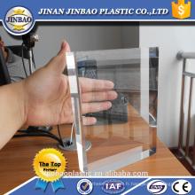 Jinan Jinbao 20mm clair feuille acrylique titulaire de la table top titulaires épais pmma