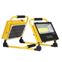 Ip65 rechargeable SMD 100watt solar led flood light