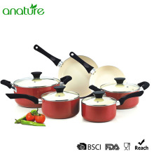 Pressed Ceramic Bakelite Handle Cookware set